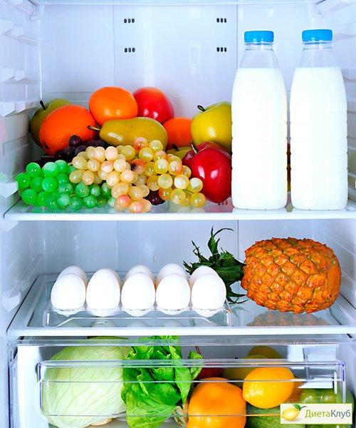 Овощи и фрукты на диете