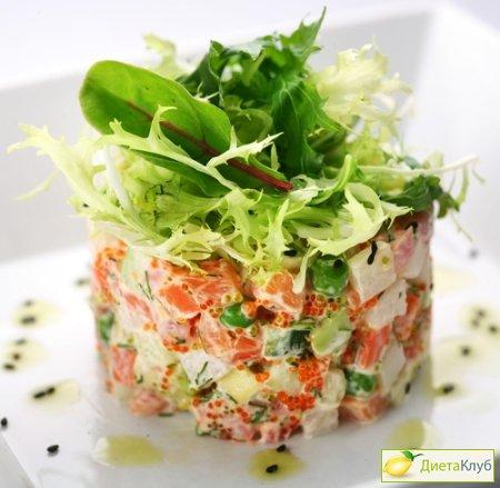 салат с красной икрой рецепт