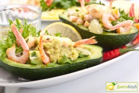 салат с креветками в авокадо рецепт с фото