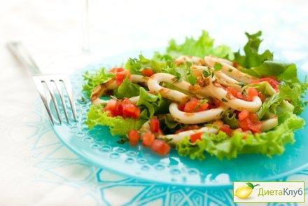 Салат кальмар перец сладкий