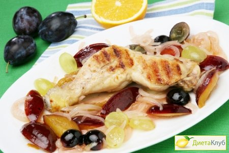 курица с виноградом, рецепт