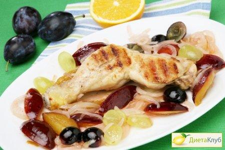 рецепт салата из винограда курицы и грецких орехов
