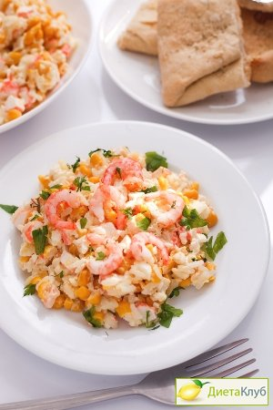 крабовый салат с креветками рецепт