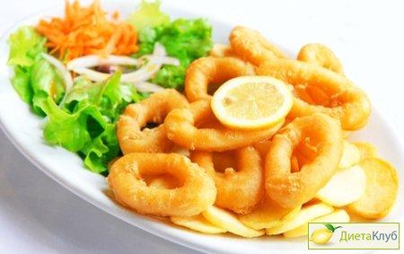 кольца кальмаров рецепт