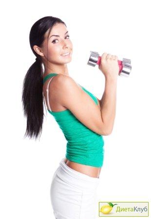 Тренировка с гантелями для женщин