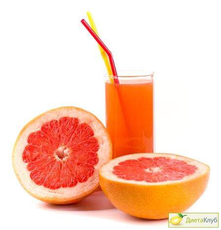 Калорийность грейпфрута, сок грейпфрута